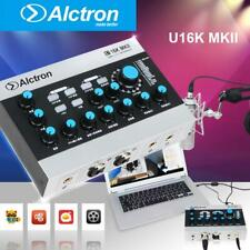 Alctron U16K MKII USB Audio Recording Interface External +39dB USB Sound Kit