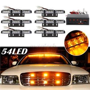 54 LED Emergency Car Truck Strobe Flash Safety Light Bars Warning Deck Dash
