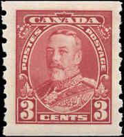 Mint NH Canada 935 VF 3c Scott #230 Pictorial Coil Stamp