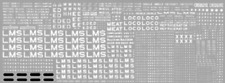 HMRS 6P OO Gauge LMS Wagon Pressfix Transfer Sheet