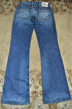 Lucky Brand Women's sz 4/27 Lil Fleur Embroidered Distressed button fly Jeans