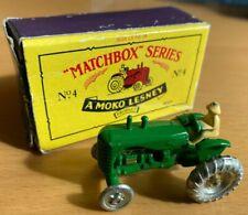 Matchbox No 4 Green Replica of Original Lesney Moko Massey Harris Tractor