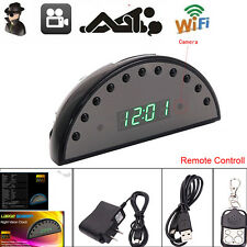 1080P Wireless Wifi IP Spy Hidden Camera IR Night Vision Clock Alarm DVR yo