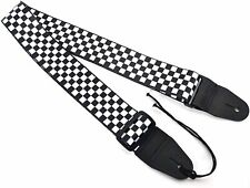 GUITAR STRAP ELECTRIC ACOUSTIC MANDOLIN CHECK DESIGN By CLEARWATER