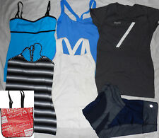 LOT of 10: Lululemon 5 tops, tights; Athleta 3 seamless tops; Nike top; size 6/S