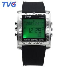 Luxury Led Digital Watches Mens Fashion Rubber Strap Rectangle Watch Men TV Remo