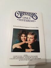 The Carpenters Only Yesterday - The Greatest Hits -  Cassette - 1990