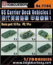 Big Blue Boy 1/700 #71104 U.S. Carrier Deck Vehicles Resin Kits (10 pcs)