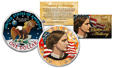 SUSAN B. ANTHONY Genuine One-Dollar Coin w/ Coin Capsule & COA * Color 2-SIDED *