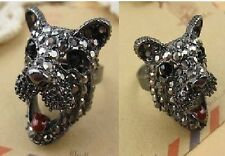 R183 BETSEY JOHNSON Crystal West Highland Terrier Puppy Retriever Hound Ring US