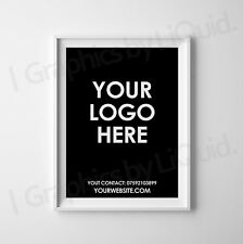 Custom Personalised Text POSTER Sign Wall Name Logo Shop Office