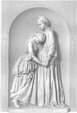 DINAH & HETTY in PRISON  Book of MATTHEW 1870 Bible Religion Art Print Engraving