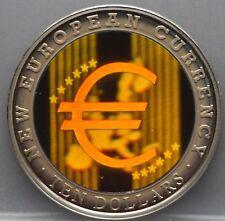 Liberia - 10 ten dollars 2003 - EURO Multicolor Hologram