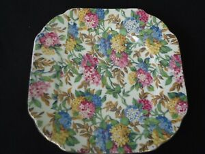 vintage superior quality japan chintz square bread & butter  plate