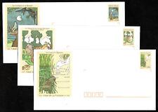France 3 lettres timbrées prêtes avec cartes  2959/2961 Jean de la Fontaine 1995