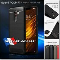 Etui Coque Housse Silicone Carbon Fiber Design soft TPU Case XIAOMI Pocophone F1