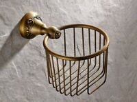 Vintage Antique Brass Paper Roll Holder Toilet Paper Holder Bathroom Accessories