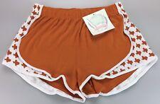 Lauren James TEXAS State Seersucker Shorties Women's Large Burnt Orange Longhorn