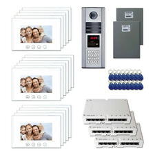 """Office Entry Door Cam 00004000 era Video Intercom System Kit with (16) 7"""" Color Monitors"""