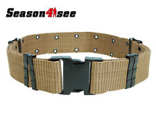 Military Heavy Duty Army Surplus Pistol Web Utility Belt equipment Tan UK