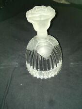 Goebel Glass Bell, Frosted Rose Handle Happy Birthday Bell