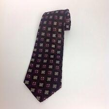 Barbara Blank Black Pink Silk Tie Necktie Menswear Mens Dress Made New York USA