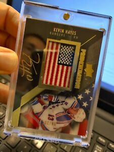 2015-16 UD Black Pride Of A Nation Auto Kevin Hayes /99