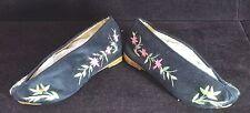 Vintage Chinoises Soie Brodé Chaussures Fait à la Main UU154A