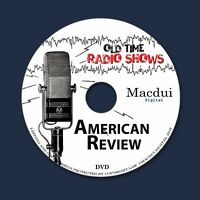 American Review Old Time Radio Shows Variety 2 OTR MP3 Audio Files on 1 Data DVD