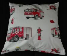 Kissenhülle, Kissenbezug 40x40 cm, Feuerwehr, Kinderkissen, Handarbeit, neu