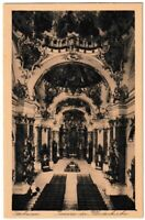 Ansichtskarte Ottobeuren - Inneres der Klosterkirche - schwarz/weiß