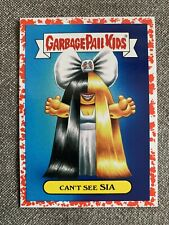 "2017 Garbage Pail Kids ""Battle Of The Bands"" Can't See Sia #10a Red MINT"