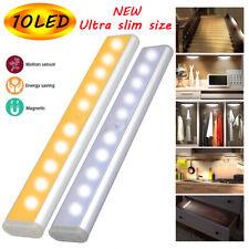 Battery Operated LED Under Cabinet Light PIR Motion Sensor Kitchen Cupboard Lamp