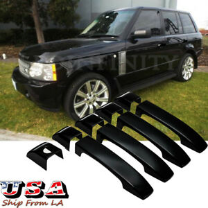 Glossy Black Door Handle Cover Trim For 2002-2012 Land Range Rover Vogue L322
