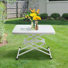 4-Height Portable Folding Table Adjustable Lift Table Desk Indoor Outdoor Use