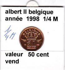 BF 1 )pieces de 50 cent belgique  1998 albert II   1/2 medaille