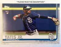 2019 Topps Series 2 Fernando Tatis Jr. #410 RC Rookie San Diego Padres*READ DESC