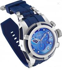 Invicta 52mm Bolt Zeus NFL OFFICIAL TENNESSEE TITANS Blue Chrono Silicone Watch