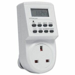 Digital Timer Plug Switch 12 / 24 Hour 7 Day Socket Programmable Mains OSD