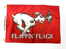 Flappin' Flags Pirate Dezi Dog Outdoor Garden Red Flag - 12 inches x 18 inches