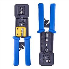 Heavy Duty RJ45 Crimper Tool Ethernet Crimping Tool EZ End Pass Through RJ11/12