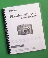 Canon A1100IS Power Shot Camera 131 Page LASER 8.5X11