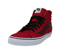 VANS SK8-Hi Reissue Chilli Pepper Red Black Lace Up Athletic Boys Shoes