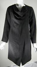 2LOVE TONY COHEN Black Size 6 Long Button Front Coat Jacket