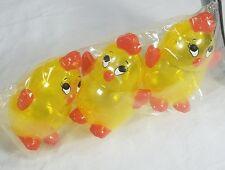 NIP Plastic Easter Eggs Fillable For Basket Egg Hunt Decoration Chick New 3pc
