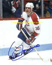 SERGIO MOMESSO In ACTION Auto 8x10 Photo MONTREAL CANADIENS Star 1983-88~@@