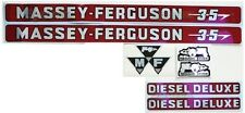 Massey-Ferguson MF 35 MF35 Tractor Basic Decal Set, incl. Diesel Deluxe