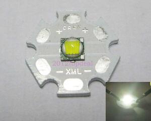 New Cree XLamp XML U2 White Color 10W LED Emitter with 20mm Star Heatsink