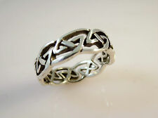 .925 Sterling Silver Open ETERNITY CELTIC KNOT RING/BAND Size 8 NEW 925 16034