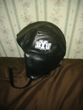 78ade1fa727155 NEW Bombshell Bomber Hat Helmet Aviator BYU College LDS Mormon Faux Leather  NCAA